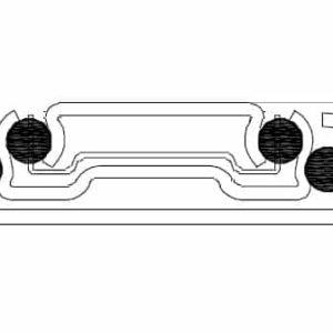 Schubladenschiene Schwerlast Schnittbild 45mm