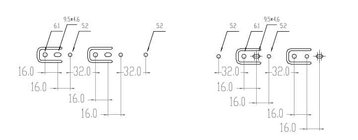 Schubladenschienen Softclose Vollauszug 550mm Befestigungsbohrungen Korpus