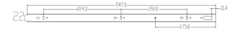Schubladenschienen Softclose Vollauszug 550mm Schubladenseiteseite