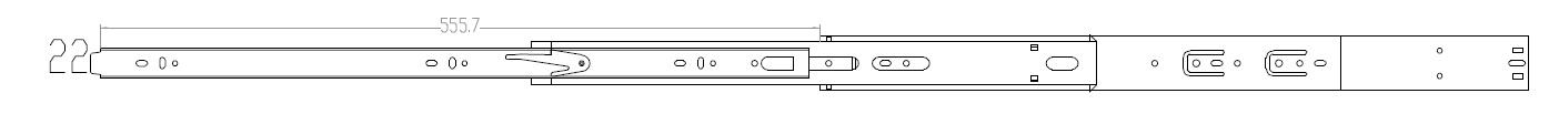 Schubladenschienen Softclose Vollauszug 550mm