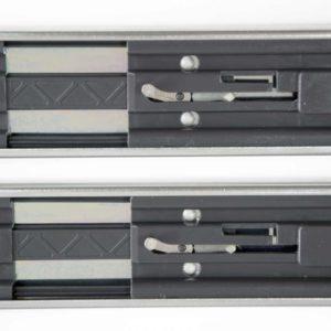 Schubladenschienen mit Push To Open Mechanik DR.LIPPMANN